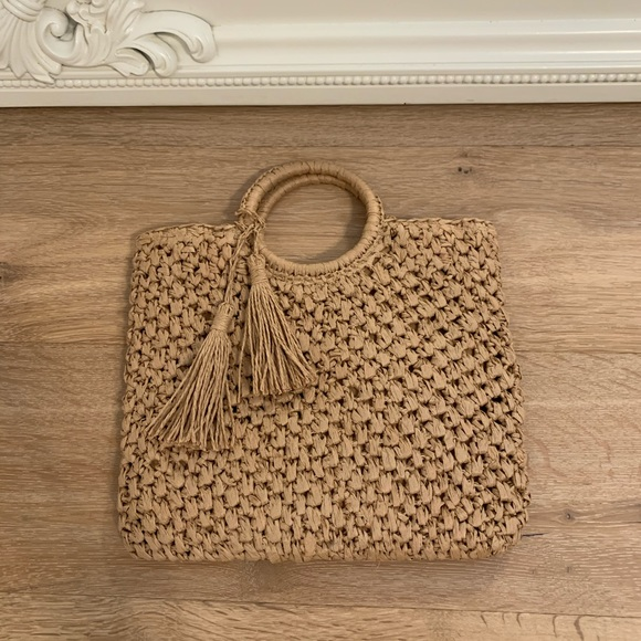 mrsalliexo Handbags - LAST • Spring Straw Handbag, Natural